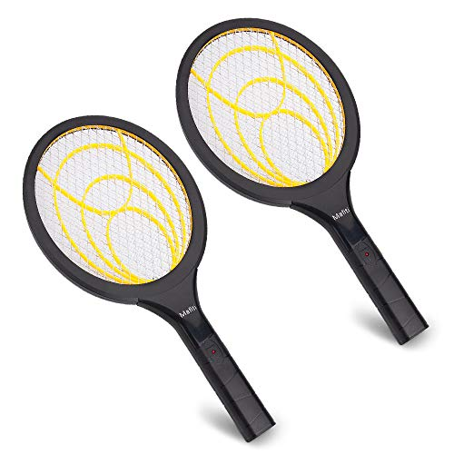 mafiti Electric Fly Swatter 2 Pack - Fly Killer and Zapper Racket Best for Indoor and Outdoor Pest Control (2AA Batteries not Included)
