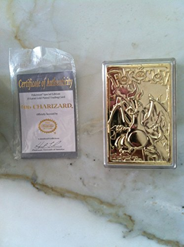 POKEMON LIMITED EDITION 23K GOLD-PLATED TRADING CARD CHARIZARD #06 ()