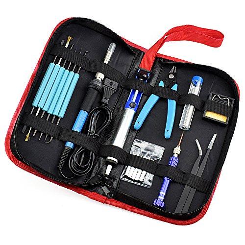 LUBAN Soldering Iron Kit, 60W Adjustable Temperature Welding Tools Portable Repair DIY Tool Set (110V) by LUBAN