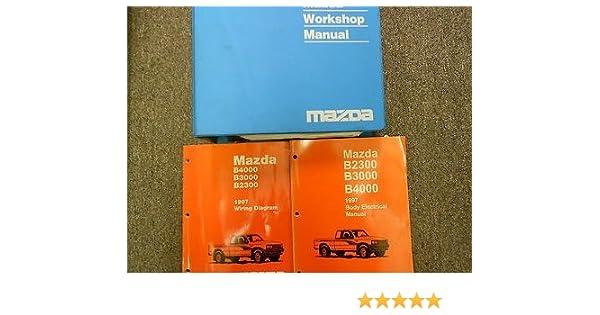 1997 mazda b-series truck b2300 3000 4000 service repair shop manual set  books (service manual, the electrical wiring diagram manual,