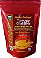 Golden Goddess® Turmeric Chai Elixir - Delicious Gourmet Vegan Instant Beverage Mix, Award-Winning Best Supplement for Weight Loss + Stress Relief + Cortisol Manager + Adrenal Support