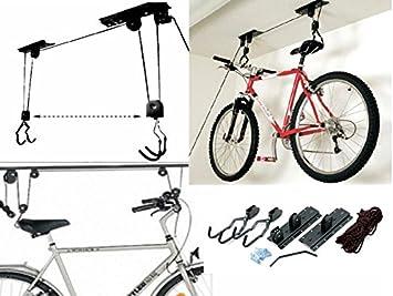 Soporte colgador para levantar bicicleta soporte bicicleta techo ...