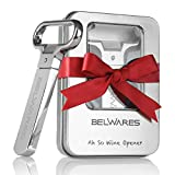 Ah So Wine Opener for Vintage Wine Bottle Opener With 2 Prongs | Durable Stainless Steel Cork Puller In Sleek Case | For Red & White Wine, Beer, Champagne, Wine Enthusiasts, Personalized Gifts