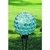 Carson, Blue Symmetry Mosaic Gazing Ball