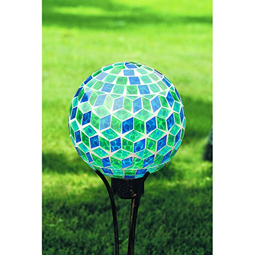 Carson, Blue Symmetry Mosaic Gazing Ball