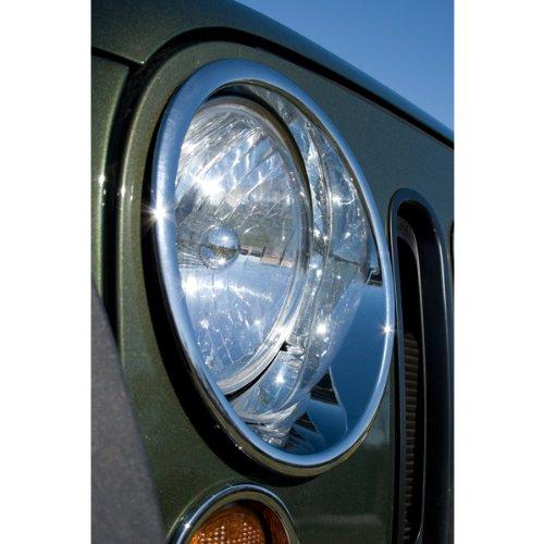 Rugged Ridge 13311.20 Chrome Headlight Trim Pair