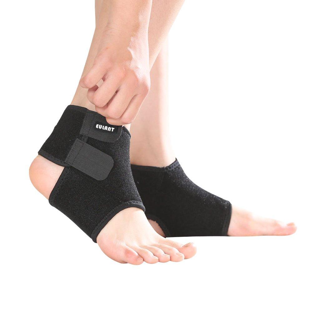 ONT Bandage de Cheville réglable pour Enfant 1 Paire de Chevilles pour Le Football, Le Basket-Ball, Le Cyclisme, la Course à Pied, la Danse
