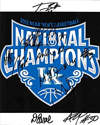 Kentucky UK Wildcats 2011-2012 Team Signed 8X10 Photo w/ COA