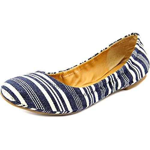 Lucky Emmie Ballet Flat Indigo Stripes