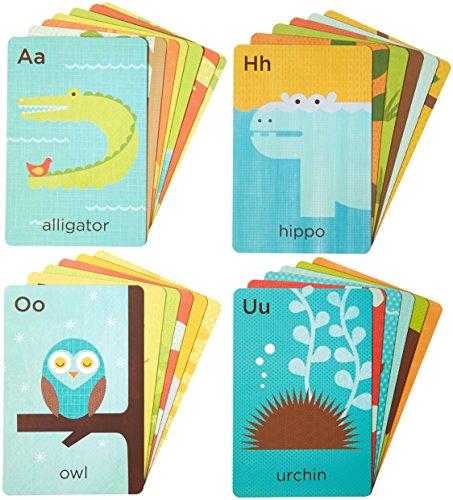 Animals Flash Cards Alphabet - Petit Collage Alphabet A-Z Animals Flash Cards (26 Cards)