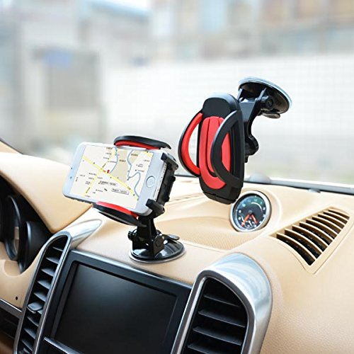 Cobao Cell Phone Holder for Car, Dashboard and Windshield Phone Holder with Strong Suction Base, Compatible with All Types of Devices, Android/iPhone HK Sutongjie Co. Limited HS35+S39