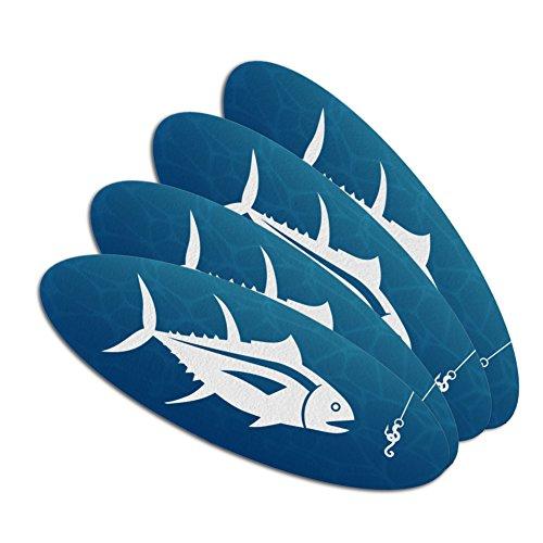 Tuna Fish Fishing Fisherman Double-Sided Oval Nail File Emer