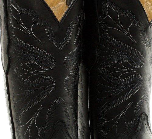 Schleifer UK Western 3 EU Mid Damen Schwarz 36 Stiefel Toe Echtleder Dallas Cowboy Kalb Stiefel FPxFSrq4w