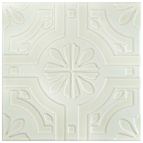 SomerTile 775x775-inch Triple Real White Ceramic Floor and Wall Tile 25Case 1111 sqft