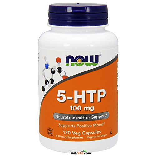 Now Foods 5-HTP 100 mg - 120 Vcaps 12 Pack by Now Foods
