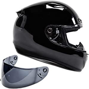 Snell M2015 Approved Full Face Motorcycle Helmet (Large - Black)