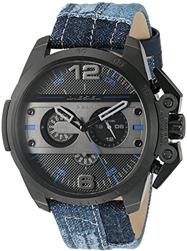 Diesel Men's DZ4397 Ironside Black Ip  Denim  Watch