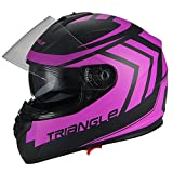 Best Motorcycle Helmet For Triangle DOTs - Triangle Full Face Motorcycle Helmets Dual Visor Street Review