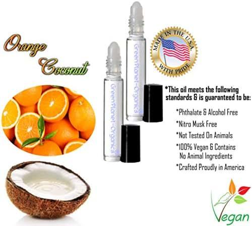 Set of 2x 10 ML Bottles: Coconut Orange Perfume (Phthalate Free & Vegan Perfume)