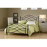 Hillsdale Furniture 1601BK Cole Headboard and Footboard, King, Black Twinkle