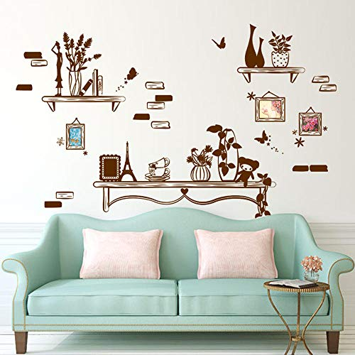 Sdefw Wall Stickers Wallpaper Removable Bedroom Study Elegant Patchwork Photo Frame Wallpaper