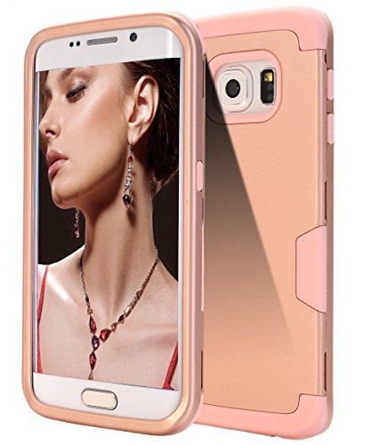 360 Degree Hard Plastic Case for Samsung Galaxy S6 Edge (Gold) - 4
