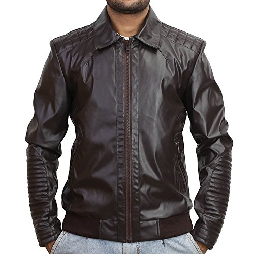 Mens Fringed Leather Motorcycle Jacket - 9