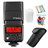 Godox TT350F 2.4G TTL GN36 High Speed Sync 1/8000s Wireless Master/slave Camera Flash Speedlite light for Fuji Mirrorless Cameras(TTL autoflash)+Filters & USB LED