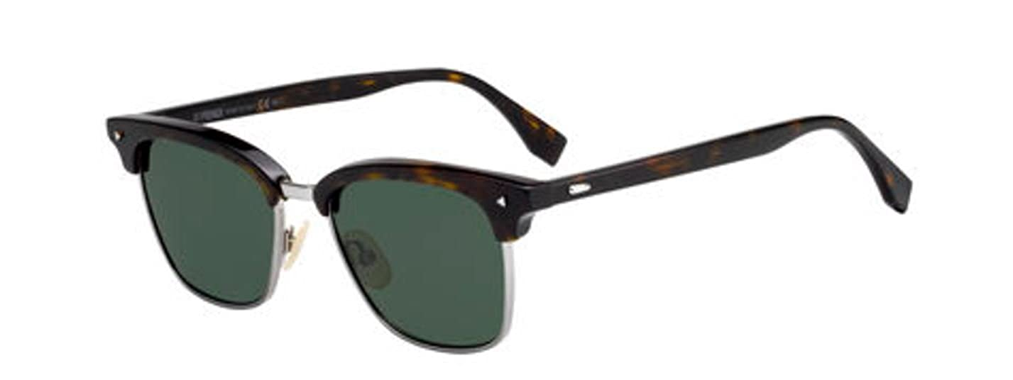 New Fendi FF 0003 S 086 QT Dark Havana Green Sunglasses