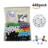 Linktor Chemistry Molecular Model Kit (440 Pieces), Student Or Teacher Set for Organic and Inorganic Chemistry Learning, Motivate Enthusiasm for Learning and Raising Space Imagination