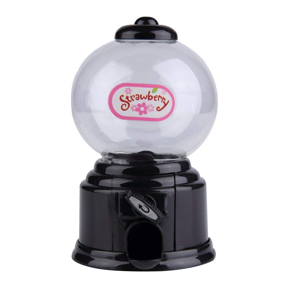 Gancunsh mini Candy Machine Bubble Gumball dispenser salvadanaio Kids adatto con Gumballs Nero
