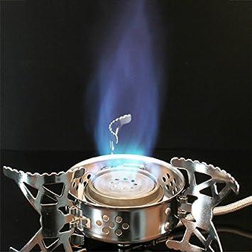 MaMaison007 Portátil plegable estufa Camping Gas horno Picnic Barbacoa fractura tipo a prueba de viento horno olla: Amazon.es: Hogar
