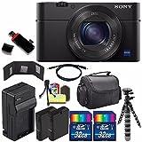 Sony Cyber-shot DSC-RX100M4 IV Digital Camera + Extra battery + Charger + 32GB Bundle 6 - International Version (No Warranty)