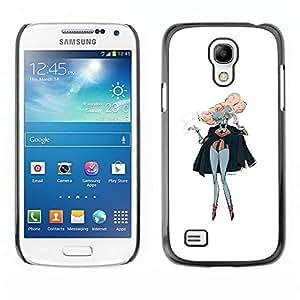 """For Samsung Galaxy S4 Mini (NOT for regular S4) Case , Pink Hair Siamese Twins Arte Pintura Outfit"""" - Diseño Patrón Teléfono Caso Cubierta Case Bumper Duro Protección Case Cover Funda"""