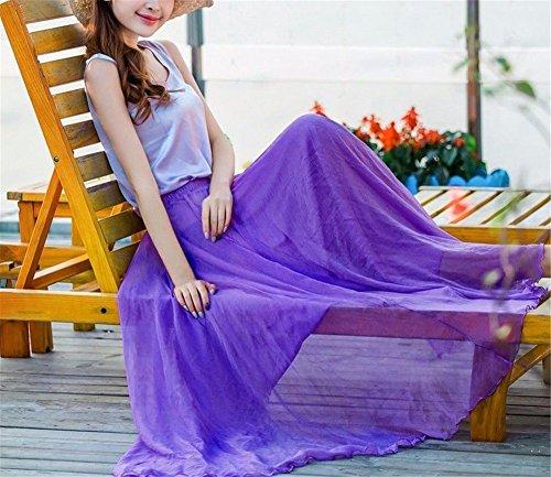 Con Spiaggia Sabbia Neve Mezza Yuch Una Purple Da Di Donna Gonna Filata Sulla UIUqH6O