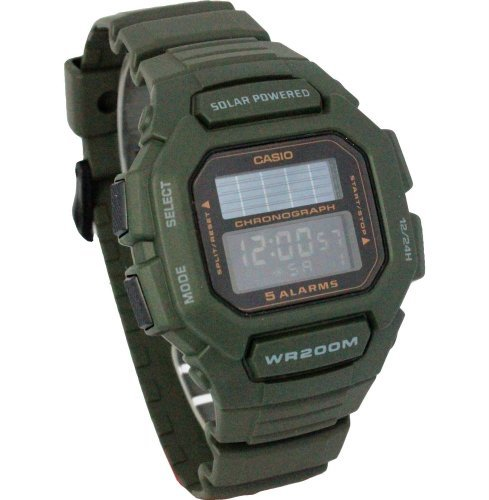 Casio Mens Green Solar Digital Watch HDDS100-1AVCF