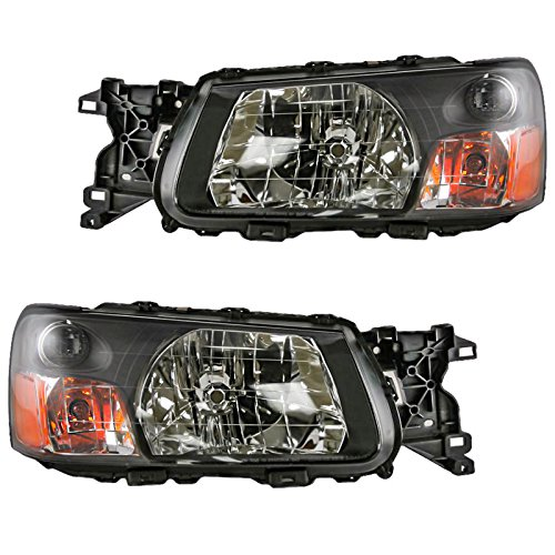 (Headlights Headlamps Left & Right Pair Set for 03-04 Subaru Forester)