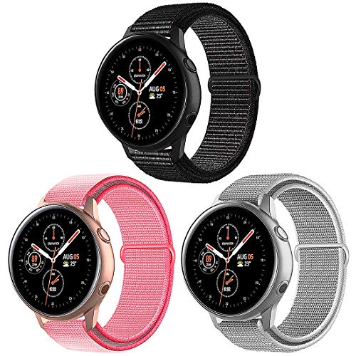 Misker Quick Release 20mm Watch Band Compatible with Samsung Galaxy/Galaxy Watch Active 2/ Huawei/Pebble/Asus/Ticwatch…