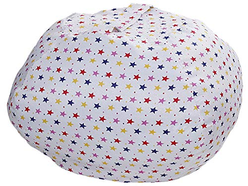 Extra Large Bean Bag Covers Only White Stars Stuffed Animal Storage Stuffed 40