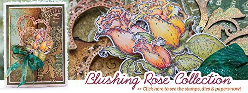 Heartfelt Creations Blushing Rose Collection with Paper Pad, 4 Stamp Sets + 2 matching Dies by Blushing Rose