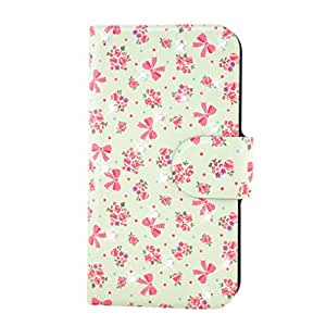 Generic Rhinestone Red Flower And Bow Design Card Slot Magnetic PU Leather Flip Case Cover Compatible For Xiaomi Millet MIUI M2 2S