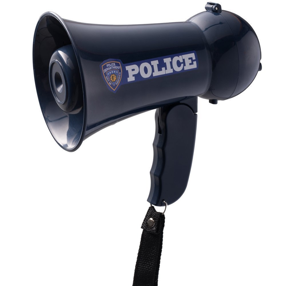 pretend play police officer u0027s megaphone with siren sound for kids