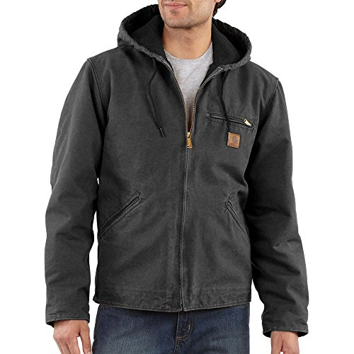 Carhartt Men's J141 Sierra Sandstone Jacket - Sherpa Lined - 4X-Large Tall - Shadow (Carhartt Jacket Duck Sandstone)