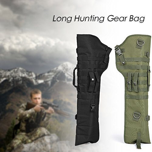 (Explopur Folding Hunting Scabbard Bag - Outdoor Shooting Tool Barrel Molle Scabbard Sheath Hunting Barrel Holster Carry Bag Black)