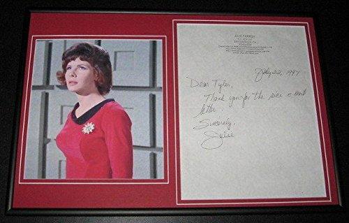Julie Parrish Signed Framed Thus & Photo Display Star Trek