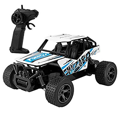 Remote Control Car, 4WD RC Stunt Car Rotate 360 Double Sided Race Rc Car MakeTheOne Electric Stunt Rock Crawler Unstoppable RTR Buggy High Speed Rc Trucks (Blue) | Computers