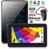 Indigi 7.0in Unlocked Smart Cell Phone Android 4.2 JB Tablet PC Smartphone (Factory Unlocked) Bluetooth Headset Bundled