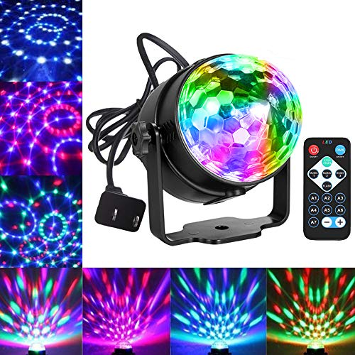 - Party Lights Disco Ball Dj Lights, Blingco Disco Lights Sound Activated Strobe Lights Party Ball Light LED Stage Lights Effect Show Lighting Disco Light for Birthday DJ Kids Xmas Club Karaoke Wedding