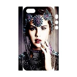 Custom Selena Gomez 3D Plastic Case for iPhone 5,iPhone 5S, DIY Selena Gomez 3D Iphone 5S Shell Case, Customized Selena Gomez 3D iPhone 5 Cover Case