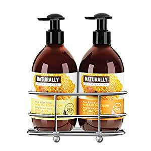 Upper Canada Soap & Candle Naturally Caddy Gift Set with Hand and Body Wash and Lotion, Warm Honey Nectar